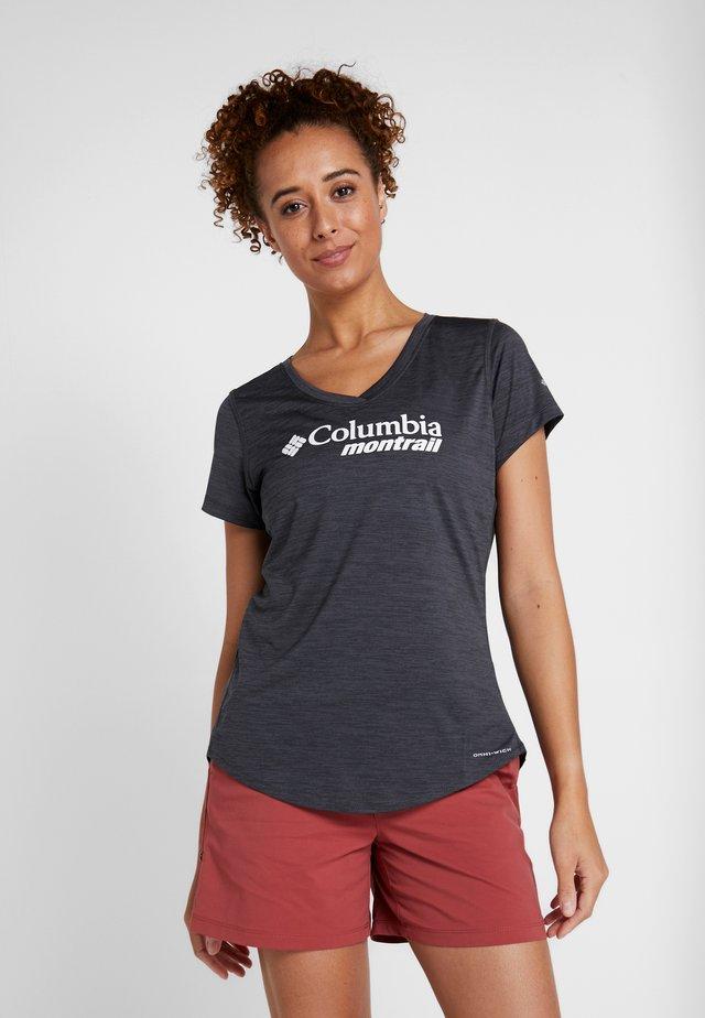 TRINITY TRAIL GRAPHIC - T-shirt z nadrukiem - black
