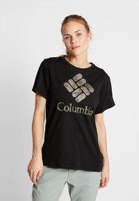 Columbia - PARK™ RELAXED TEE - Print T-shirt - black - 0