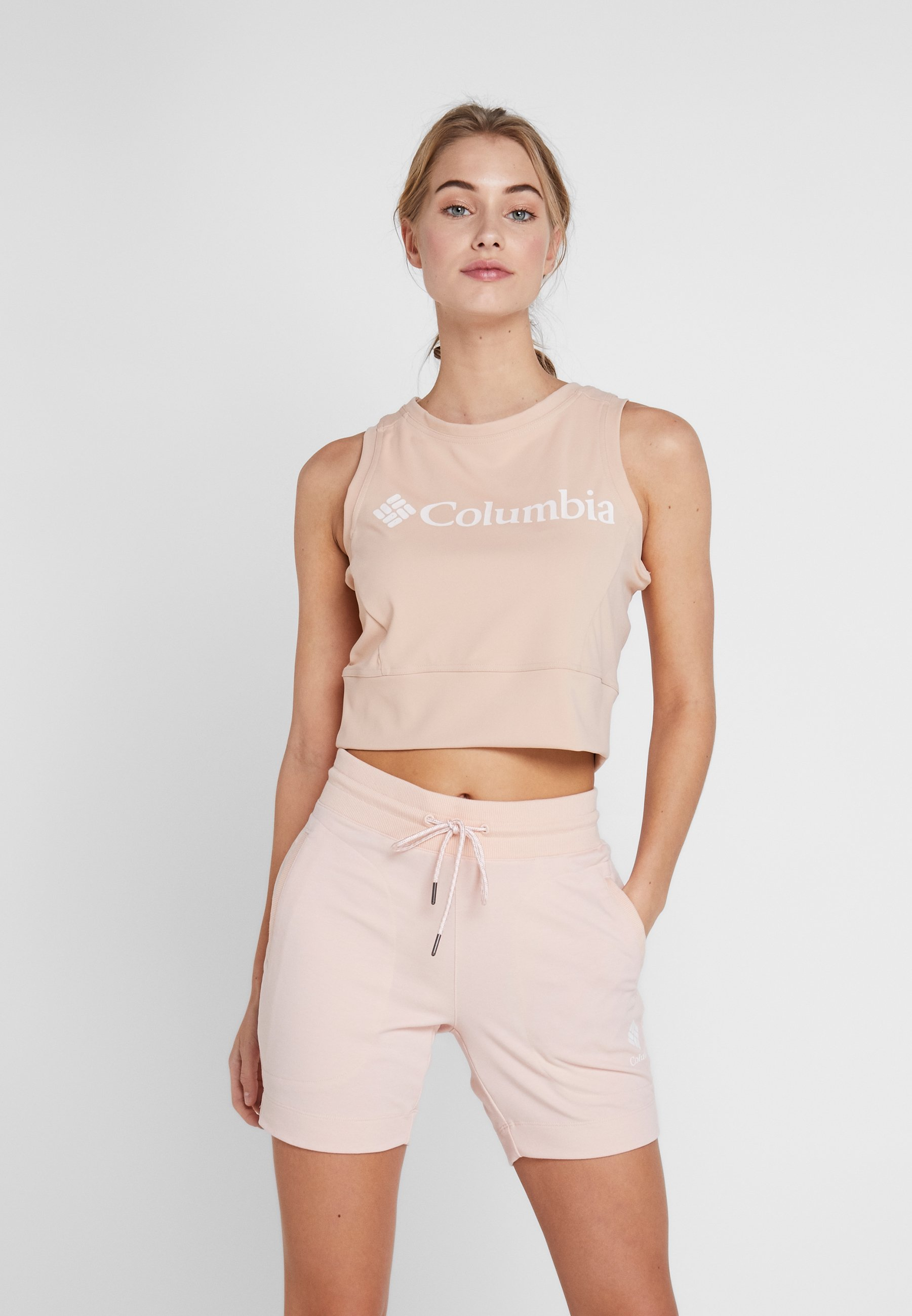 Columbia WINDGATES CROPPED TANK - Treningsskjorter - peach cloud/white