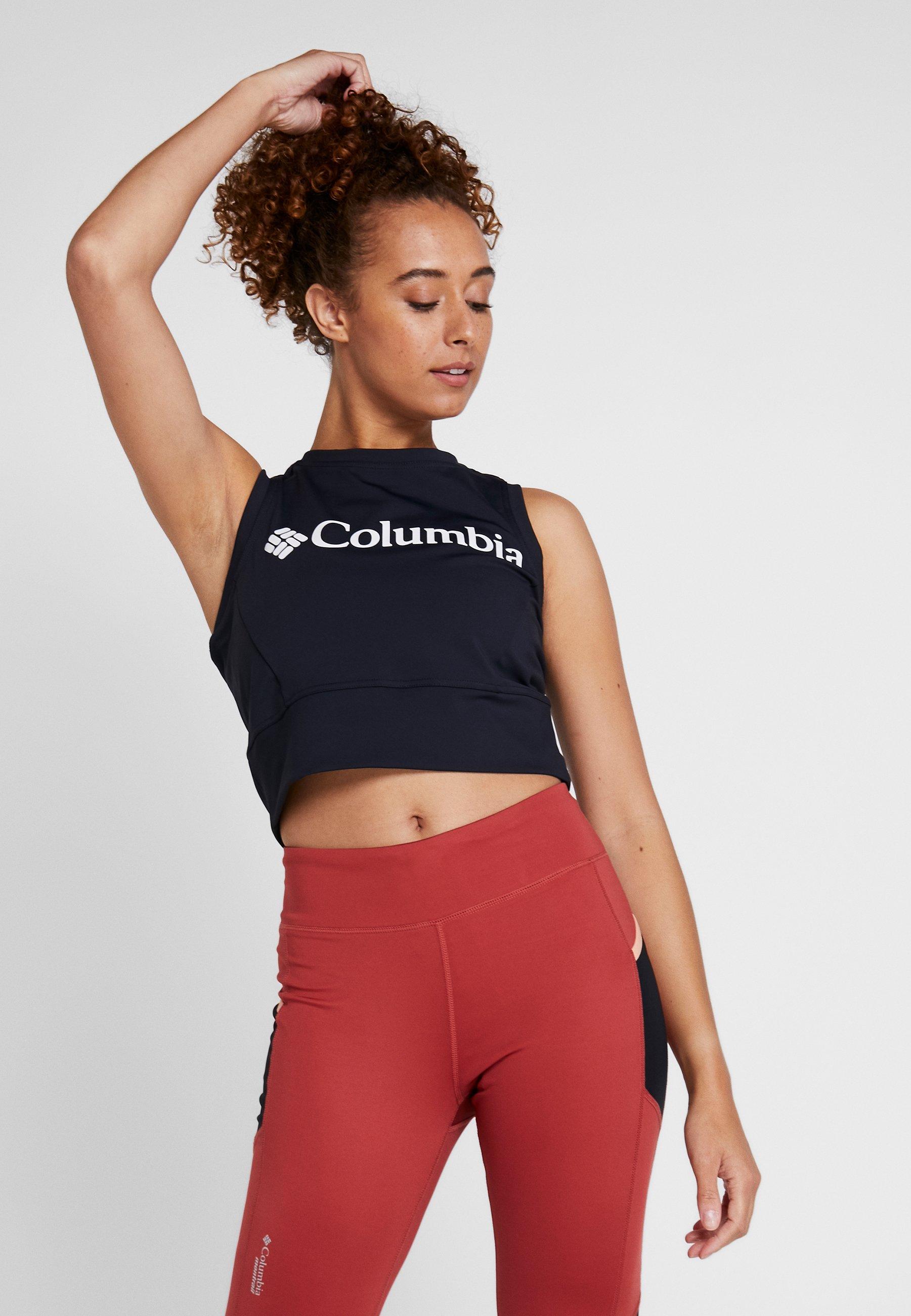 Columbia WINDGATES CROPPED TANK - Treningsskjorter - black/white