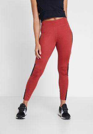 TITAN ULTRA - Leggings - dusty crimson/black