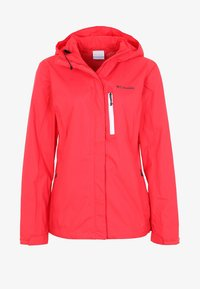 Columbia - POURING ADVENTURE JACKET - Hardshell jacket - red camellia/white - 4