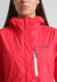 Columbia - POURING ADVENTURE JACKET - Hardshell jacket - red camellia/white - 2