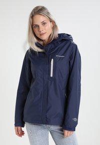 Columbia - POURING ADVENTURE JACKET - Hardshell jacket - dark blue - 0