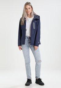 Columbia - POURING ADVENTURE JACKET - Hardshell jacket - dark blue - 1