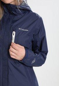 Columbia - POURING ADVENTURE JACKET - Hardshell jacket - dark blue - 4