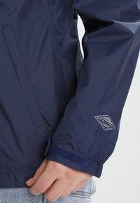 Columbia - POURING ADVENTURE JACKET - Hardshell jacket - dark blue - 3