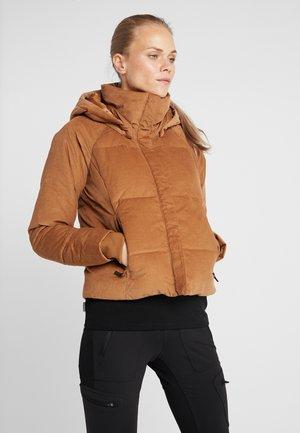 RUBY FALLS JACKET - Down jacket - camel brown corduroy
