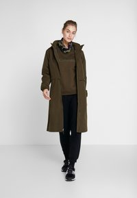 Columbia - FIRWOOD™ LONG JACKET - Waterproof jacket - olive green - 1