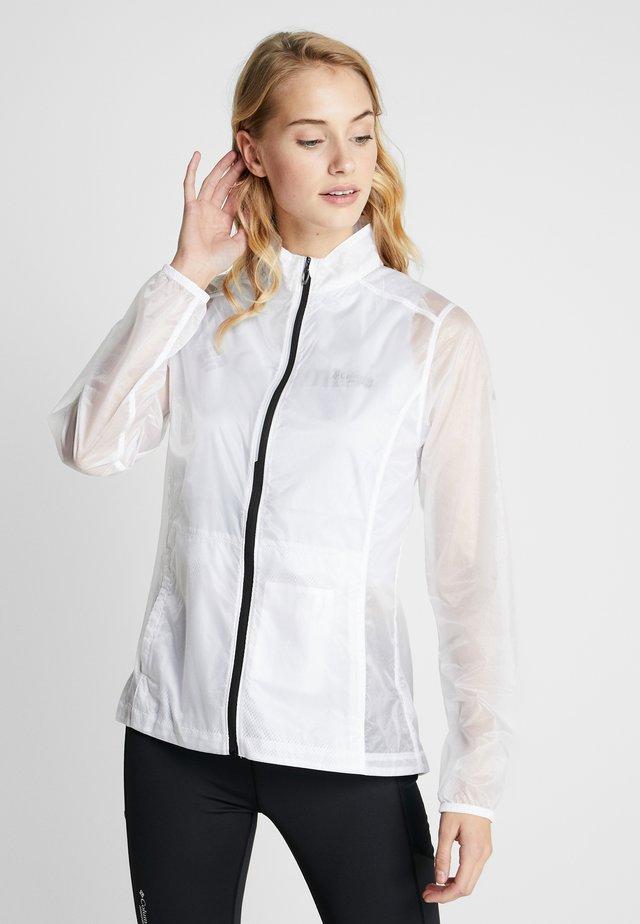 JACKET - Waterproof jacket - white/black