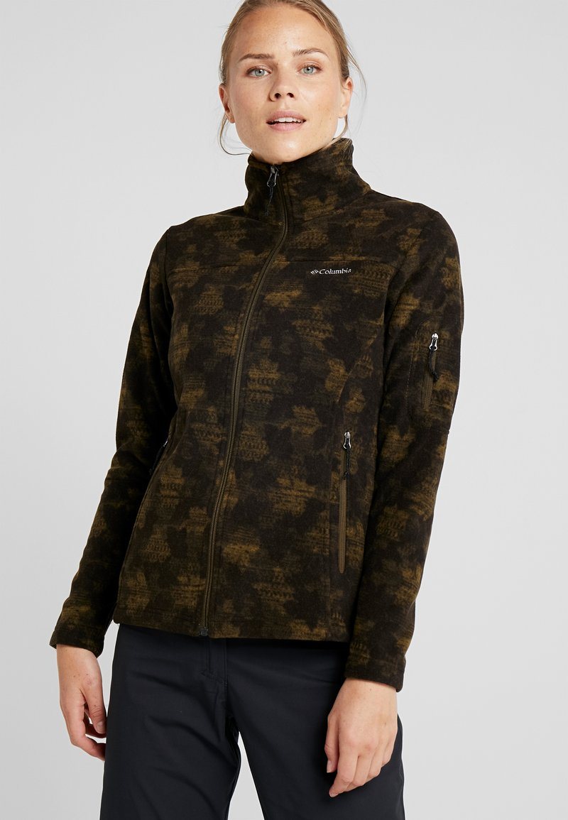 Columbia - FAST TREK PRINTED - Fleecejacke - olive green