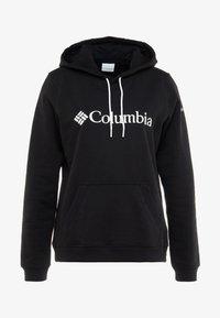 Columbia - BASIC LOGO HOODIE - Felpa con cappuccio - black/white - 4