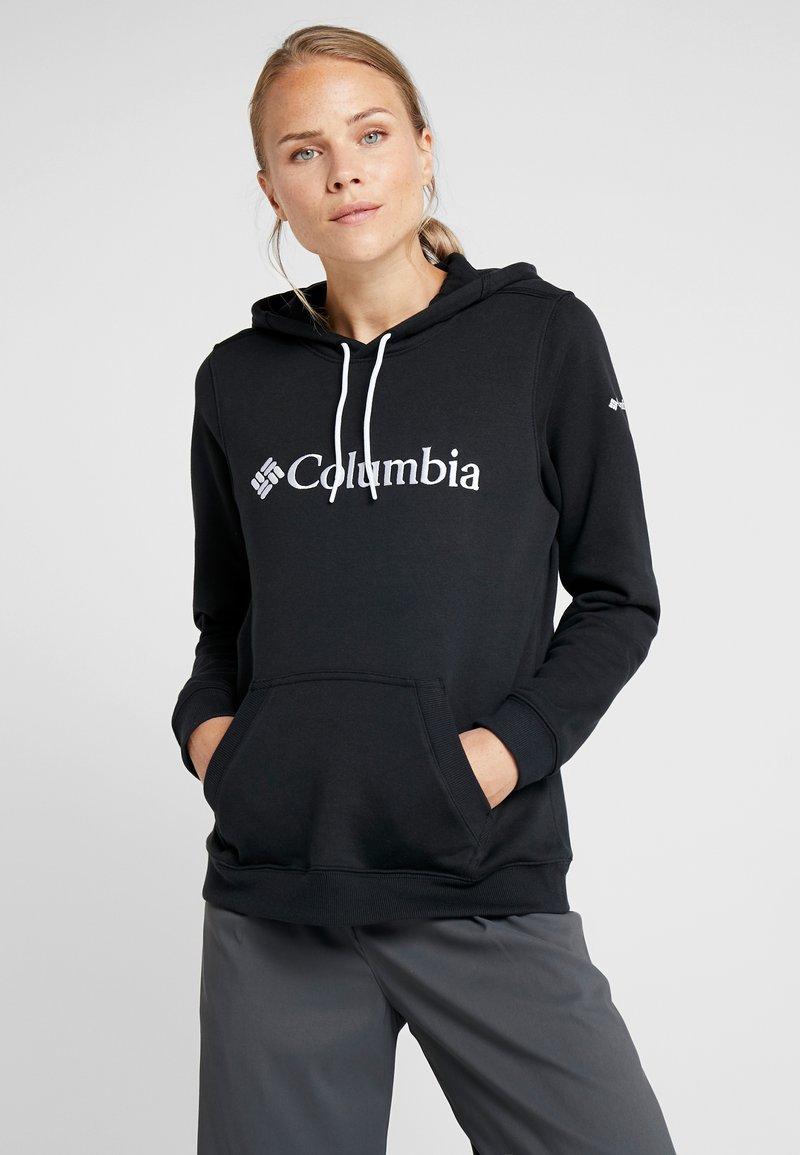Columbia - BASIC LOGO HOODIE - Jersey con capucha - black/white