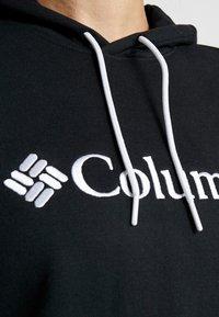Columbia - BASIC LOGO HOODIE - Felpa con cappuccio - black/white - 5