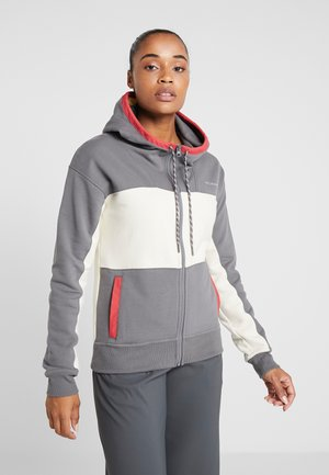 LODGE FULL ZIP - Fleece jacket - city grey heather/chalk heather