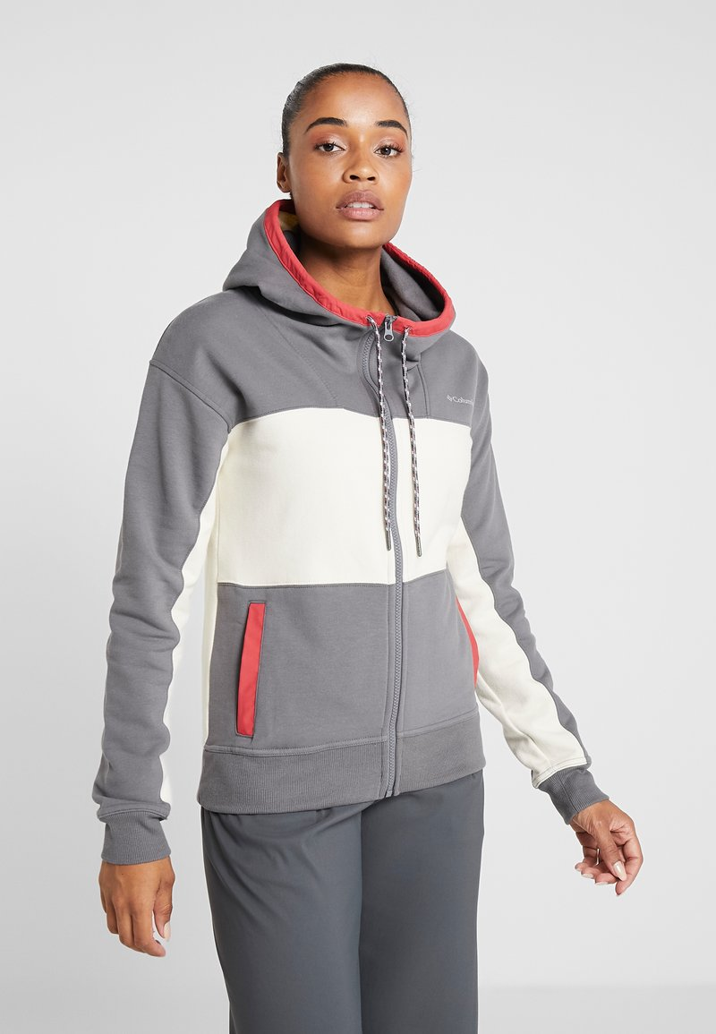 Columbia - LODGE FULL ZIP - Fleece jacket - city grey heather/chalk heather