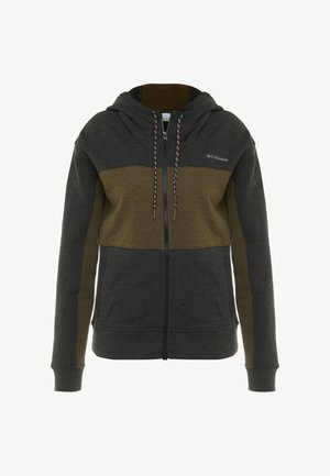 LODGE FULL ZIP - Fleece jacket - black/olive green