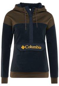 Columbia - EXPLORATION ANORAK - Felpa con cappuccio - black/olive green - 5