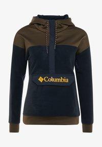 Columbia - EXPLORATION ANORAK - Felpa con cappuccio - black/olive green - 3