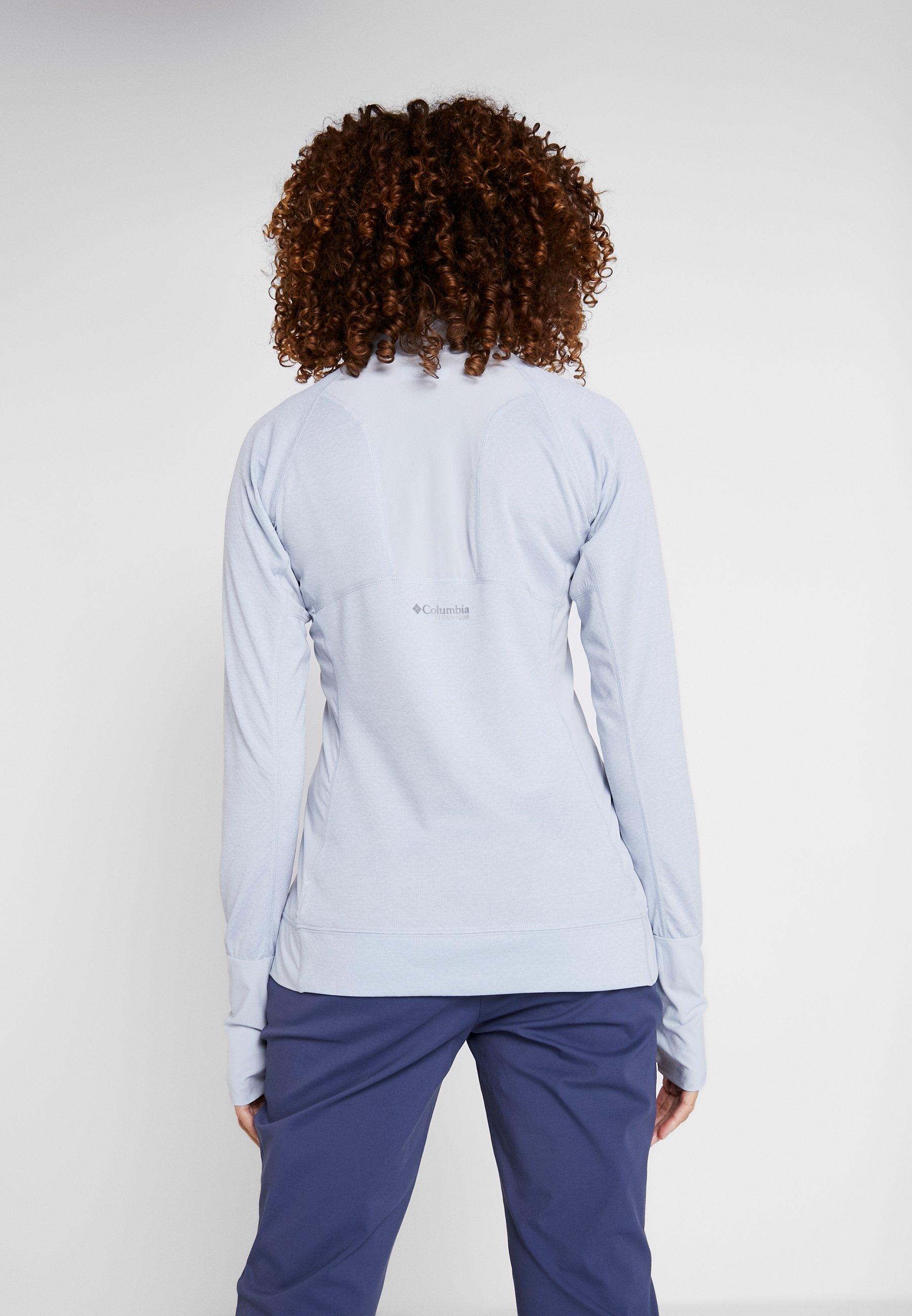 Columbia IRICO HALF ZIP - Topper langermet - white/cirrus grey