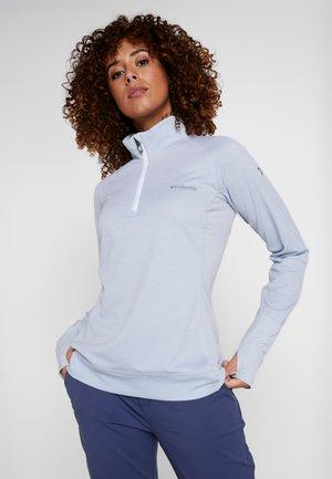 IRICO HALF ZIP - Langærmede T-shirts - white/cirrus grey