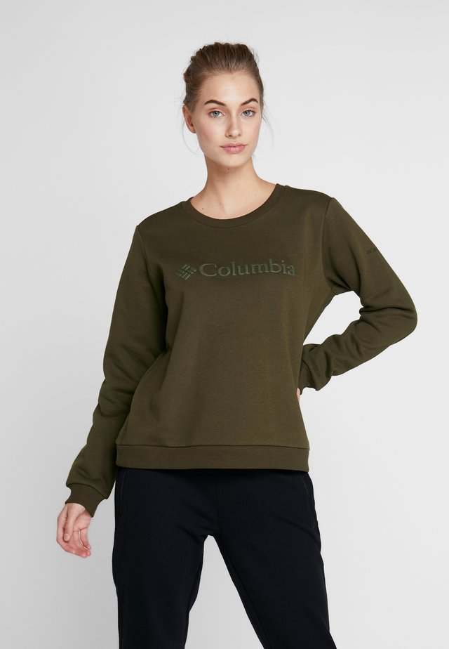 LOGO CREW - Sweatshirt - olive green
