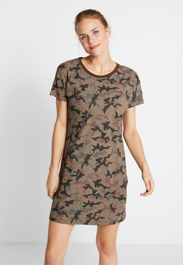 PARK™ PRINTED DRESS - Jersey dress - olive green