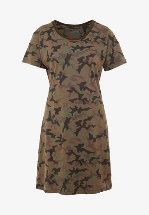 PARK™ PRINTED DRESS - Jerseyjurk - olive green
