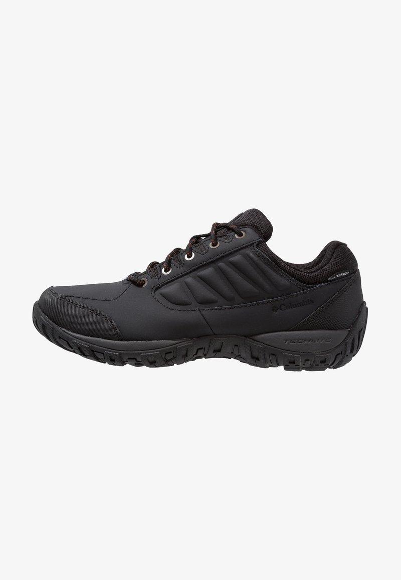 Columbia - RUCKEL RIDGE WATERPROOF - Hiking shoes - black/rusty