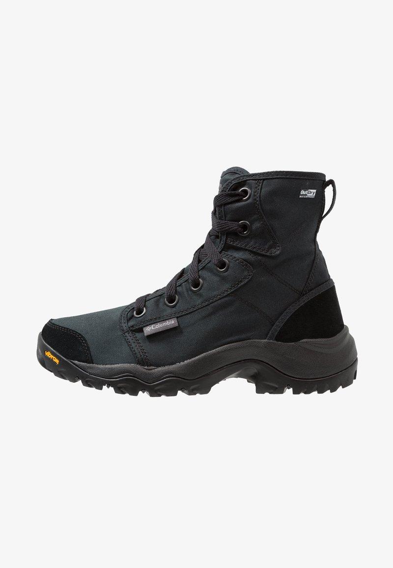 Columbia - CAMDEN OUTDRY CHUKKA - Hiking shoes - black/grey