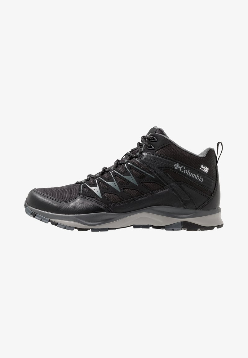 Columbia - WAYFINDER OUTDRY - Hiking shoes - black, steam