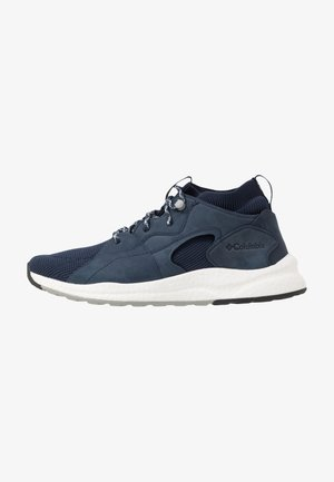 SH/FT  OUTDR  MID - Vaelluskengät - collegiate navy/white