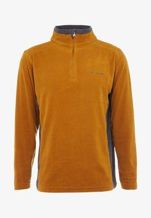 KLAMATH RANGE HALF ZIP - Forro polar - burnished amber/shark