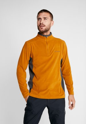 KLAMATH RANGE HALF ZIP - Fleecepullover - burnished amber/shark