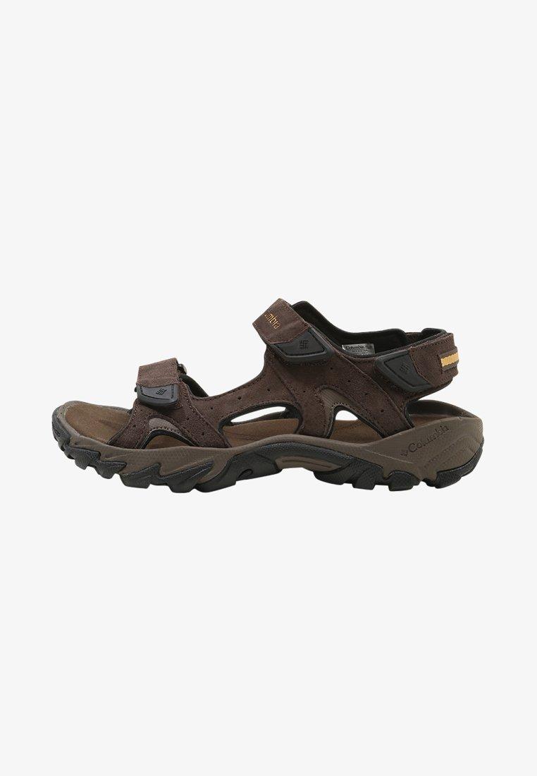 Columbia - SANTIAM 3 STRAP - Walking sandals - cordovan/dark banana