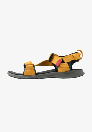 Walking sandals - petrol blue/golden yellow