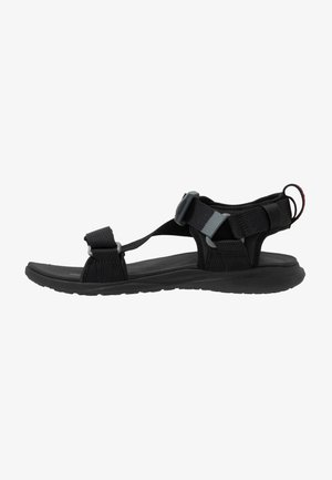 Walking sandals - black/red element