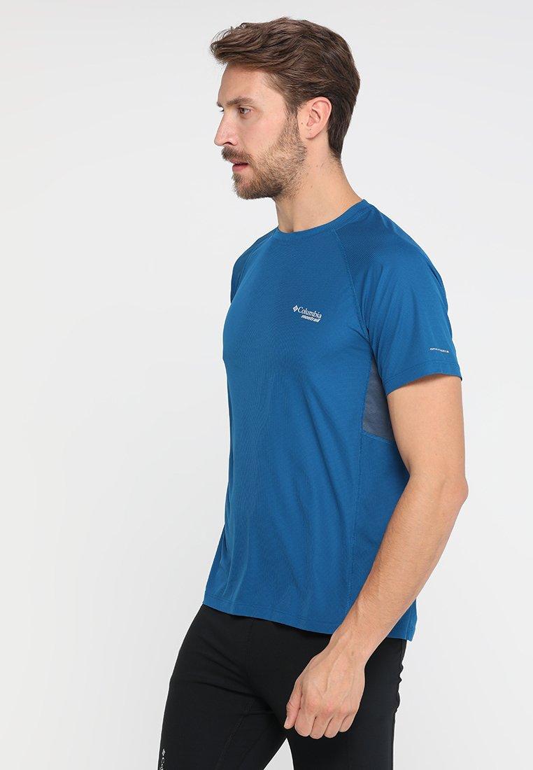 Columbia - TITAN ULTRA SHORT SLEEVE - T-shirt print - dark blue/dark grey