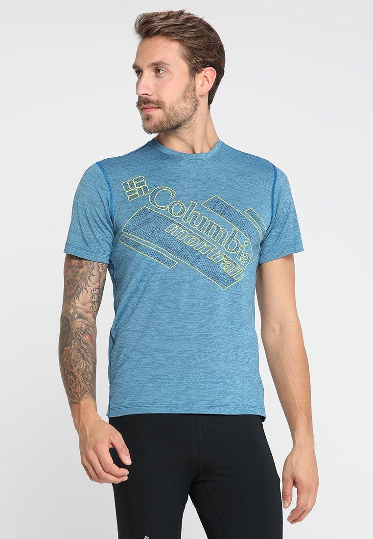 Columbia - TRINITY TRAIL™ 2.0 SHORT SLEEVE - T-Shirt print - deep lagoon