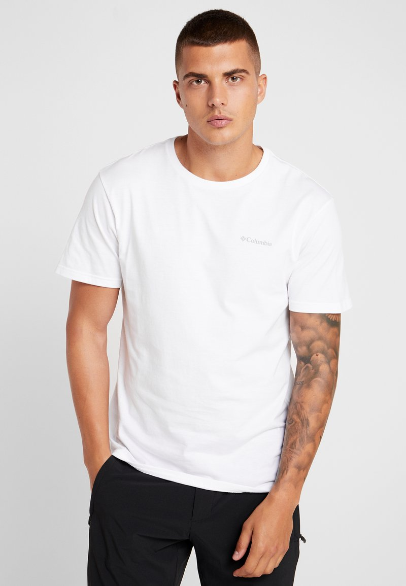 Columbia - NORTH CASCADES SHORT SLEEVE - Print T-shirt - white/azul