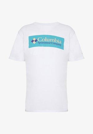 NORTH CASCADES SHORT SLEEVE - T-shirt print - white/clear water/bright nectar