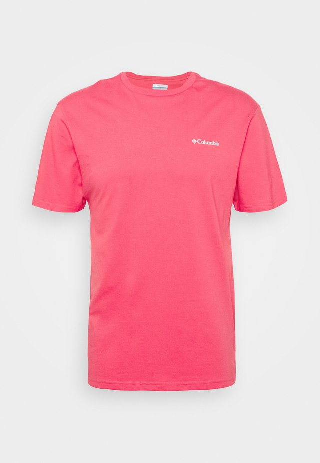 NORTH CASCADES SHORT SLEEVE - Print T-shirt - bright geranium