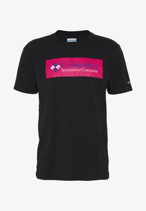 NORTH CASCADES SHORT SLEEVE - T-shirt print - black/cactus pink/azul