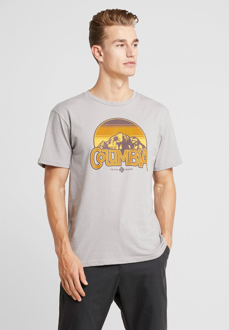 Columbia - BASIN BUTTE GRAPHIC TEE - T-shirts print - grey heather