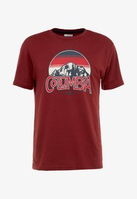 Columbia - BASIN BUTTE GRAPHIC TEE - T-shirt z nadrukiem - red jasper - 4