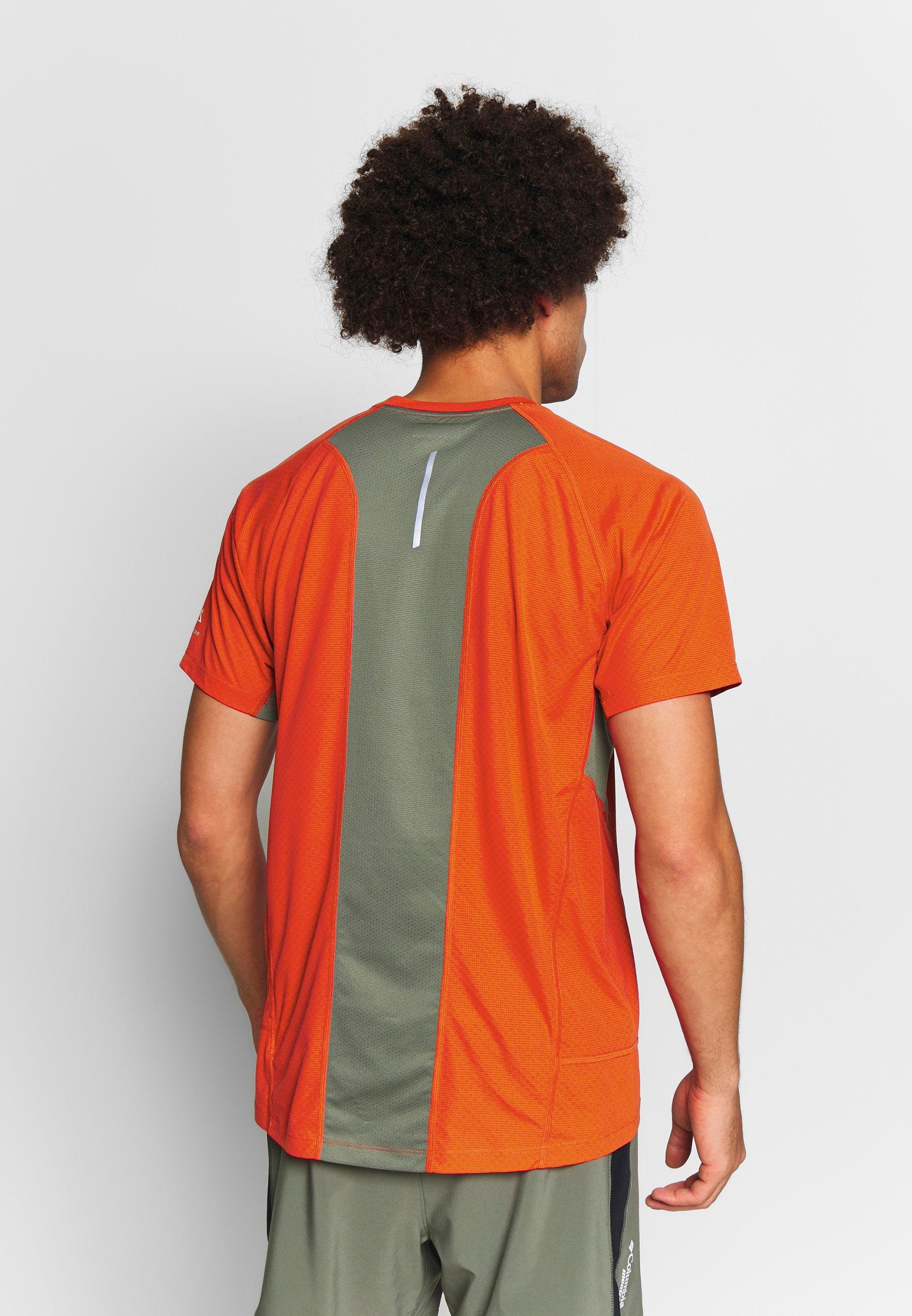 Columbia Titan Ultra - T-shirt Med Print Wildfire/cypress