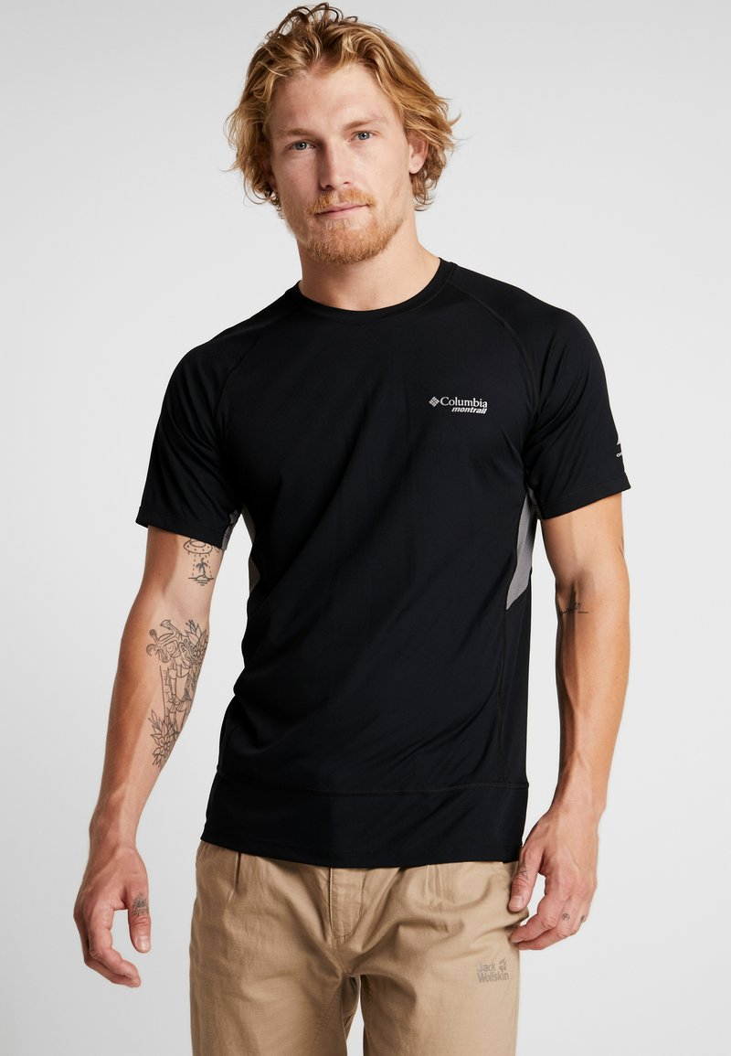 Columbia - TITAN ULTRA - T-shirt med print - black/city grey