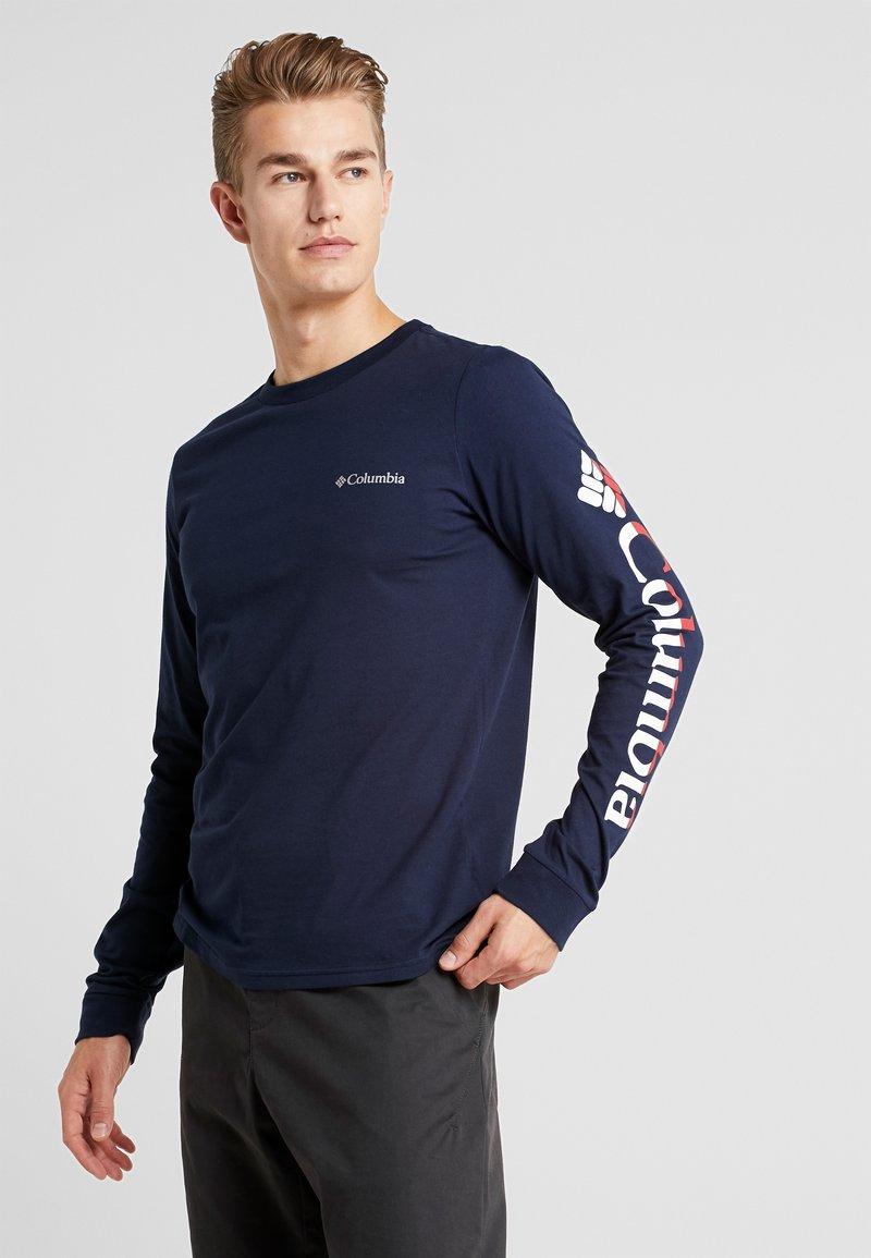 Columbia - LODGE GRAPHIC - Camiseta de manga larga - collegiate navy