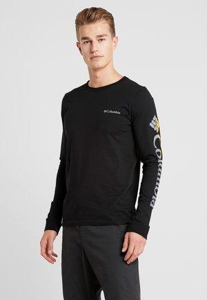 LODGE GRAPHIC - T-shirt à manches longues - black