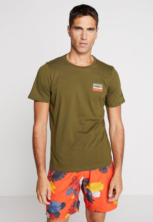 RAPID RIDGE BACK GRAPHIC - Print T-shirt - new olive leafscape